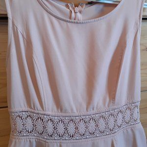 Dusty Pink Dress with Lace Detailing